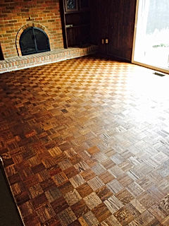 sablage et installation plancher bois-franc