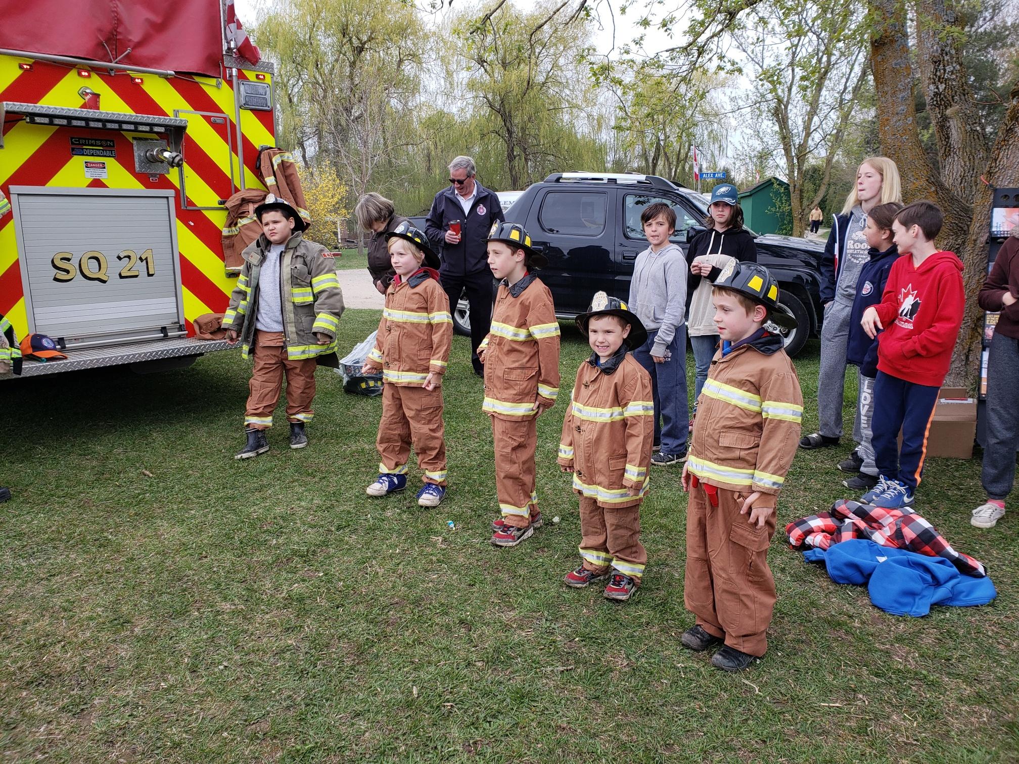 Firefighter demonstration