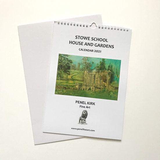 Stowe School House and Gardens A4 Wall Calendar 2021
