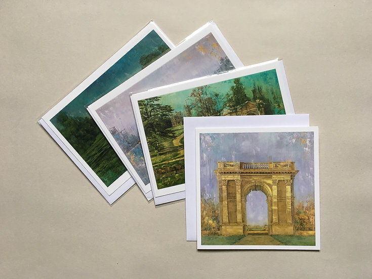 Set of 4 cards mixed