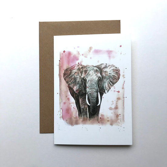 Sumatran Elephant card