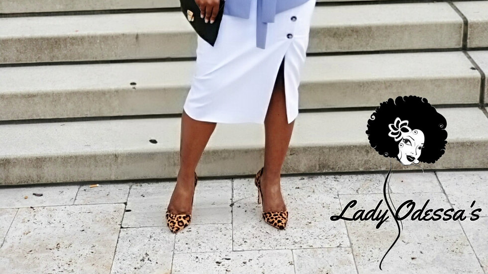 Straight White Skirt