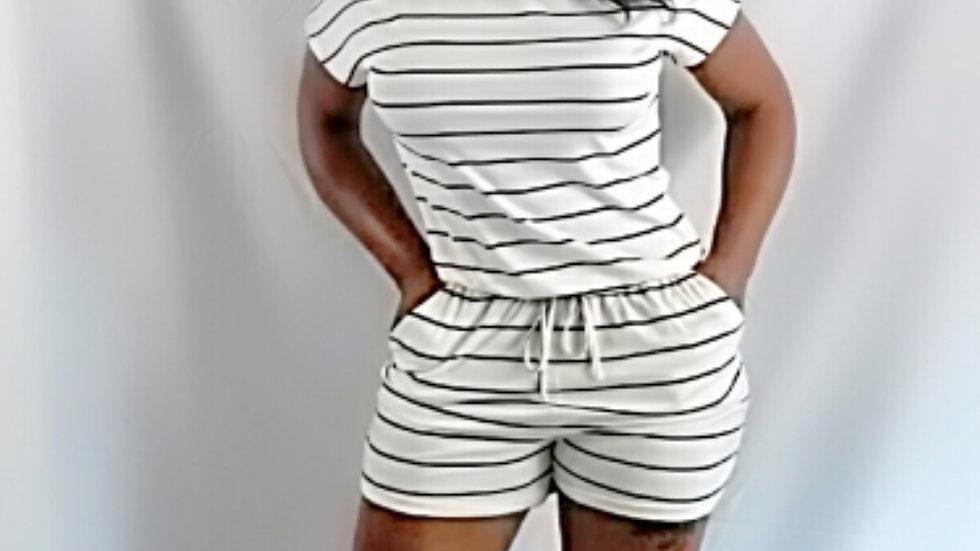 Short Sleeve Summer Romper Shorts