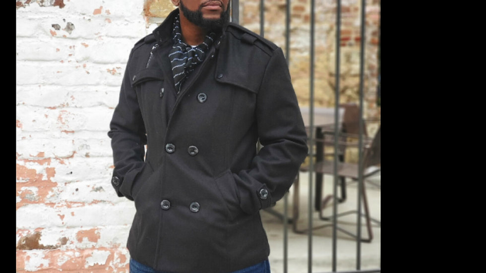 Men's Double Breasted Peacoat