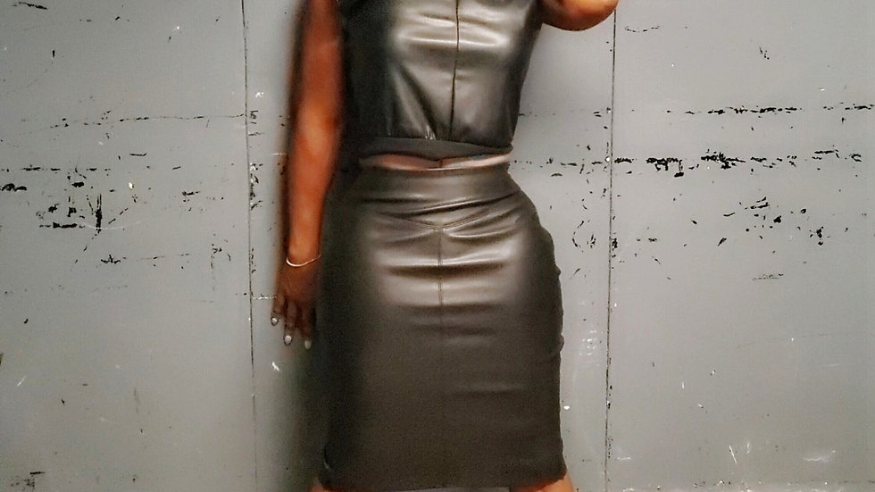 All Weather Leather Cropped Top