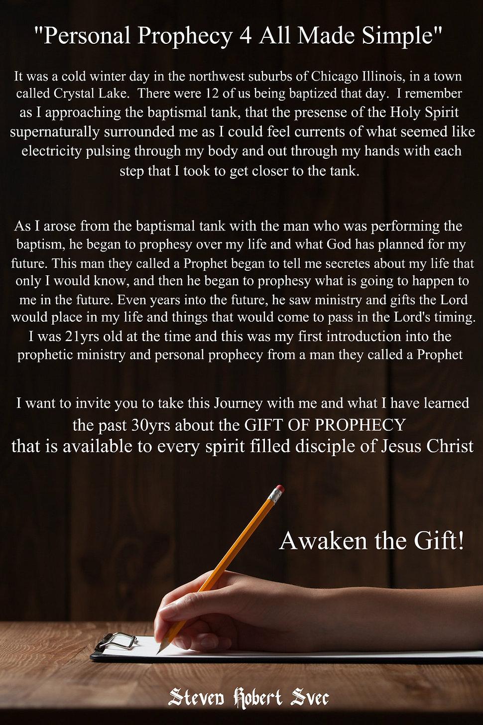 Awaken the Gift of Personal Prophecy Steven Svec