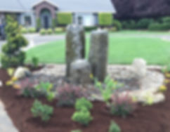 Landscaped garden and lawn