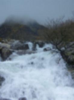 WATERFALLS AT OGWEN VALLEY