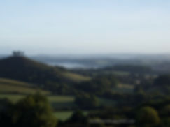 MIST IN THE HILLS COLMER'S HILL DORSET