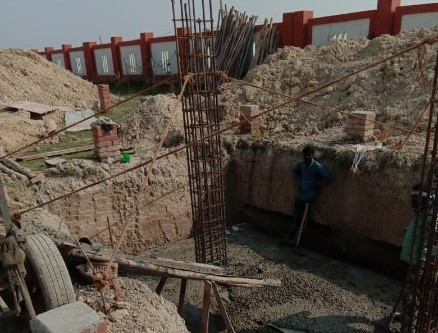 India, Lucknow: The Foundation for Education was Excavated