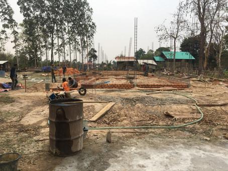 School Construction in Laos is Underway
