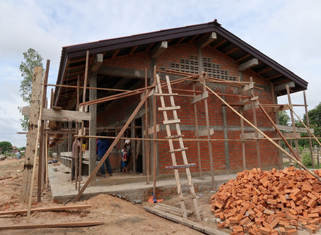 Construction Work in Laos School is Progressing