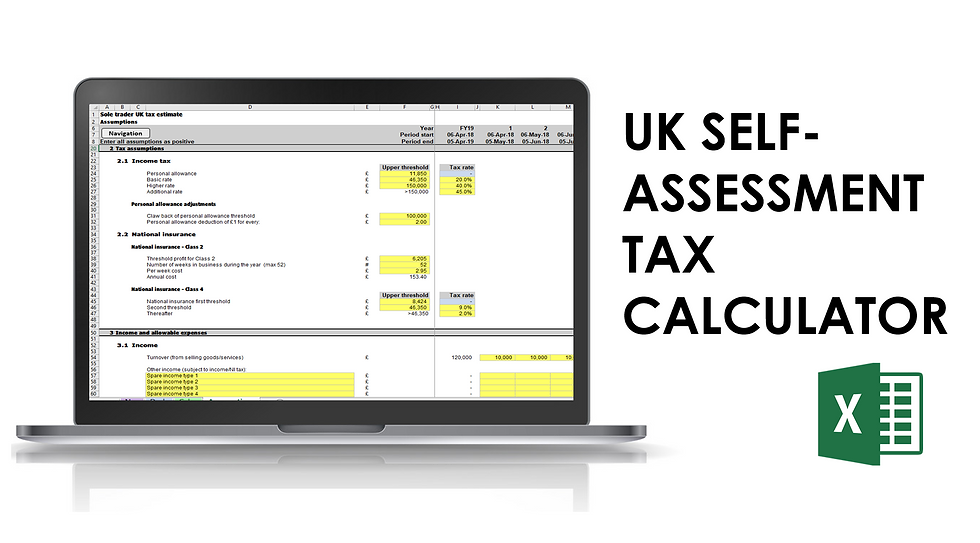UK Self-assessment tax calculator