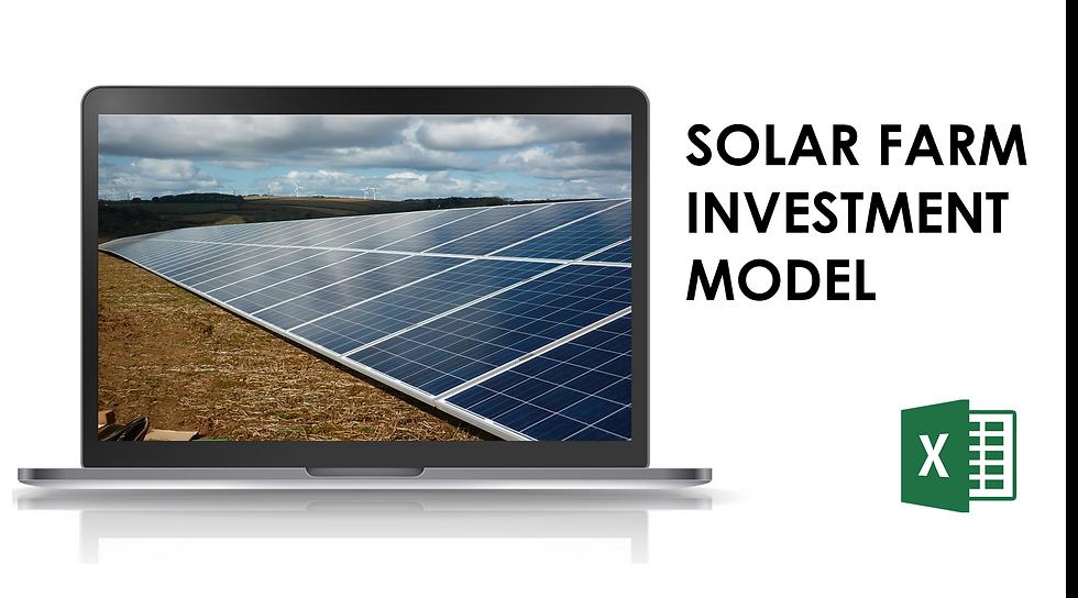 Solar farm investment model