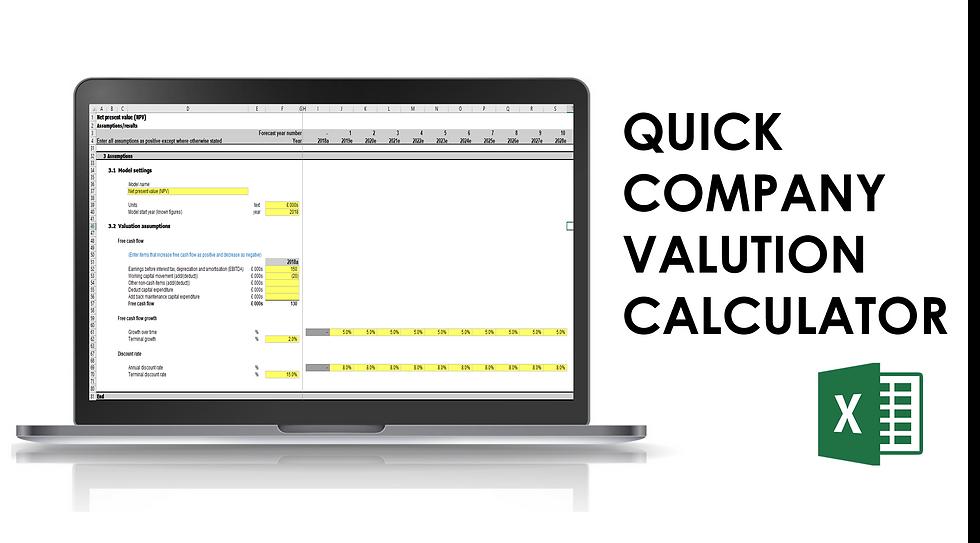 Quick company valuation calculator