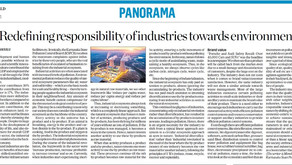 Redefining responsibility of industries towards environment