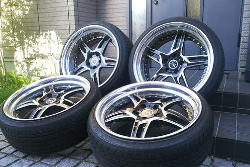комплект кованных колес 20 дюймов, разноширокий.