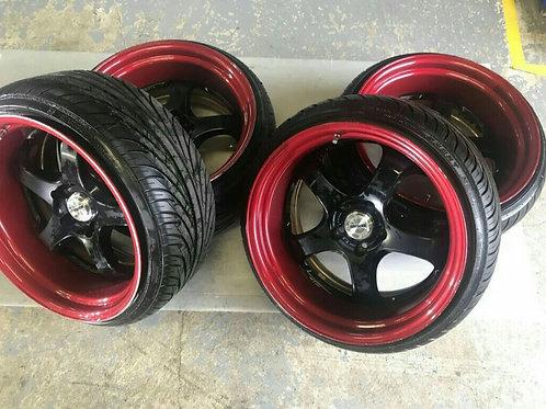 комплект кованных колес 18 дюймов, одноширокий.