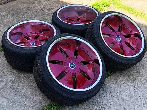 комплект кованных колес 19 дюймов, разноширокий.