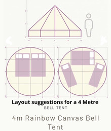 4 Metre Bel Tent Layout
