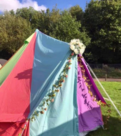 4 Metre Canvas Rainbow at Tents in Kent