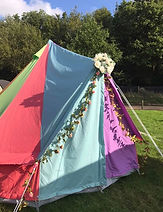 4 Metre Rainbow Canvas Bell Tent_Ideal f