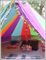 5 Metre Rainbow Canvas Tent