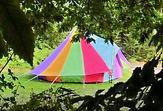 Rainbow Canvas Bell Tent