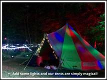 5 Metre Canvas Rainbow Nightime