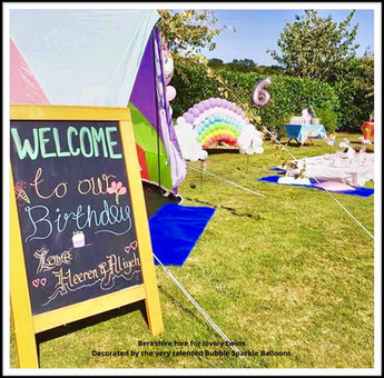 Rainbow Tent Birthday Party Berkshire