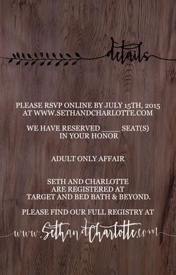 Wedding Invite - Back