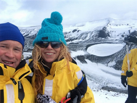 """""""So…. How did you and David meet?"""" ……IN Antarctica, IN a Volcano, ON my 44th Birthday!"""