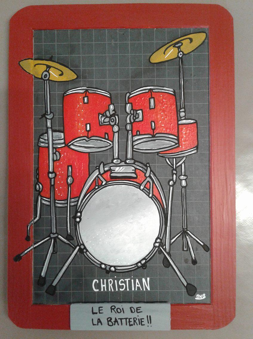 Christian le roi de la batterie