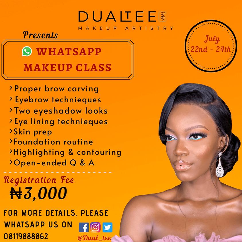 DualTee Makeup Artistry Whatsapp Class