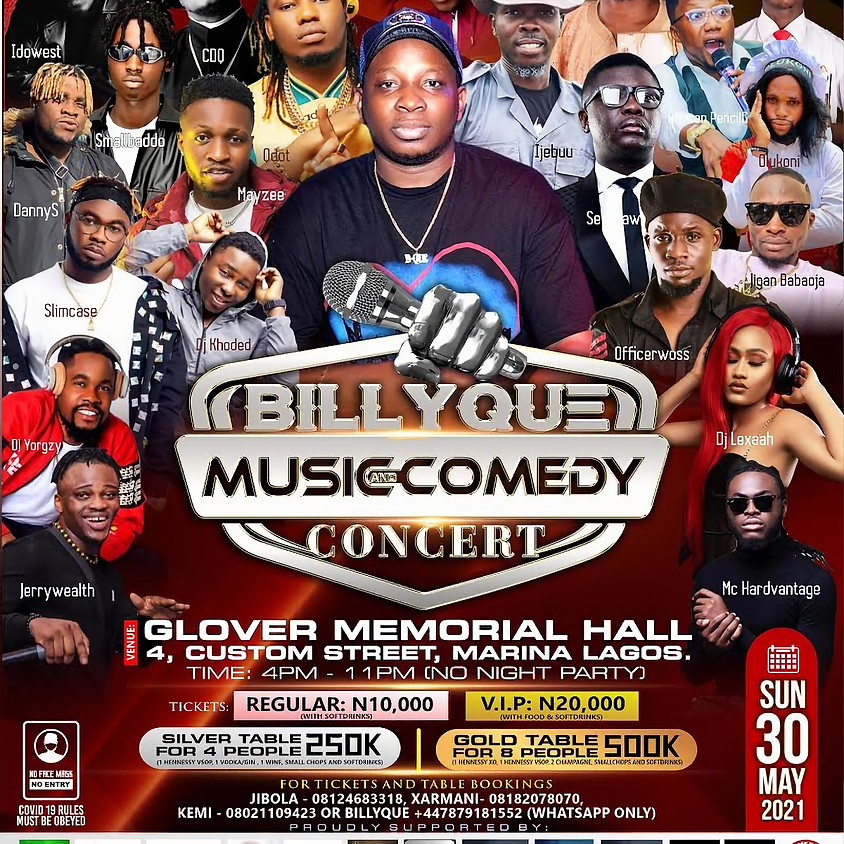 Billyque Music And Comedy Concert Vol 1.0
