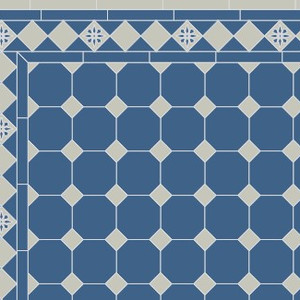 Oct Dot in Blue Grey with Glascow border
