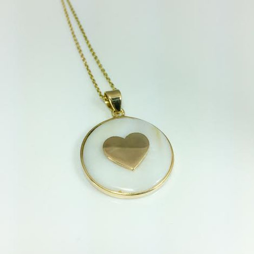 Heart with Mother of Pearl