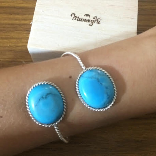 Double Cuff Turquoise