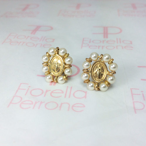 Our Lady Ring Studs