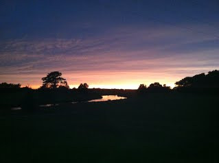 A view of the setting sun from the Country Club - Photo by Jennifer Blackburn-Nielsen