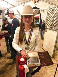 Emilia Reutimann & her Silver Medal at the FEI World Reining Championships