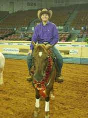 Sam Flarida & Hollywooddirtysecret the 2018 NRHA Youth Futurity & Level 1 Non-Pro Futurity Champion