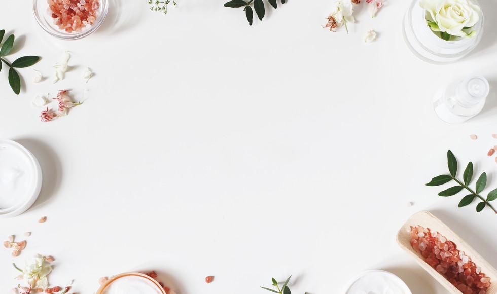 Styled beauty frame, web banner. Skin cr