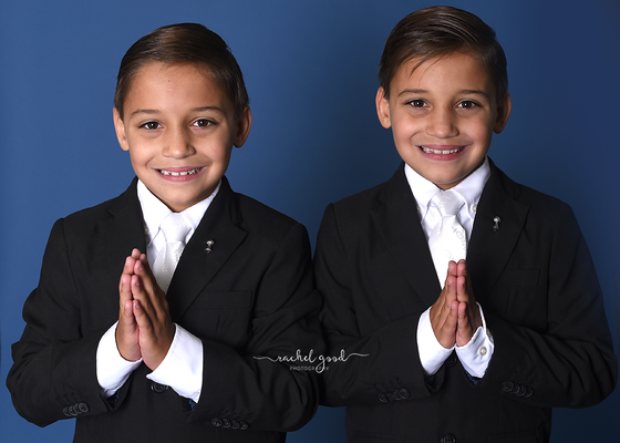 Twins First Communion Portraits