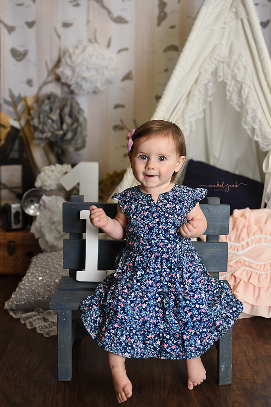 First Year of Life Client, Addy turns one. Columbia Station Photographer