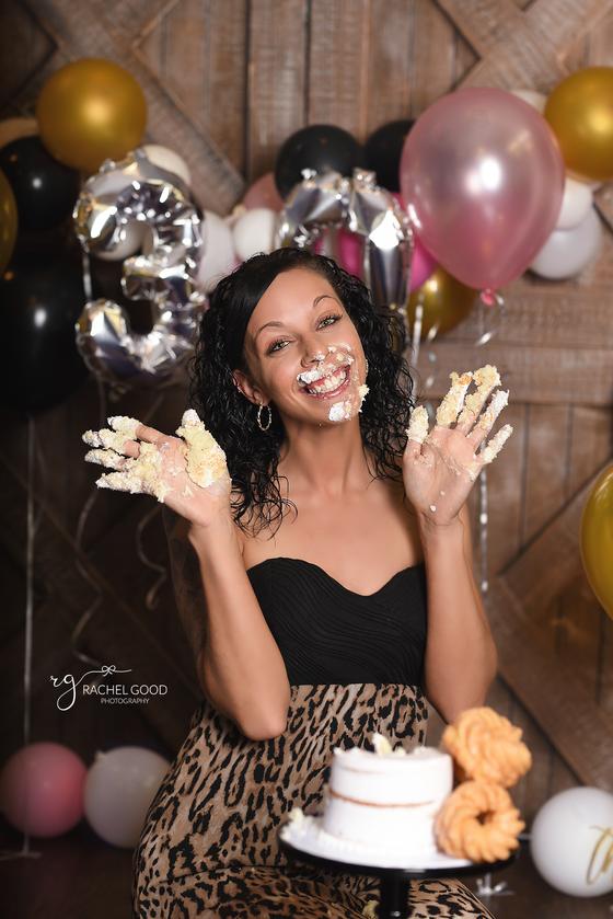 Happy 30th Megan! Adult Cake Smash