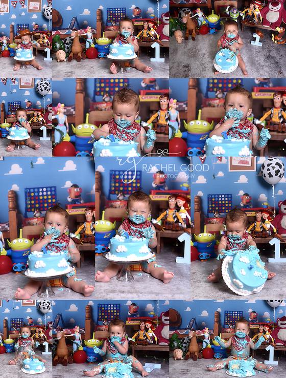 Toy Story Cake Smash with Abel.