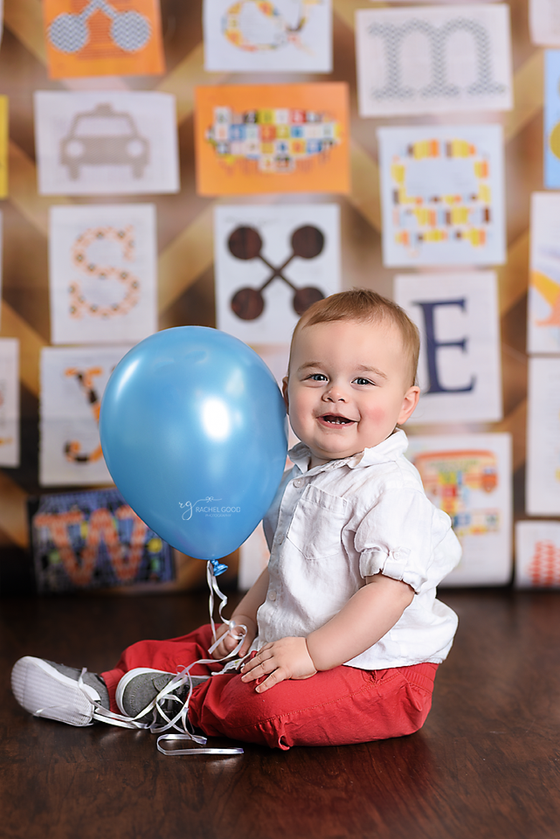 First Birthday session with Everette.