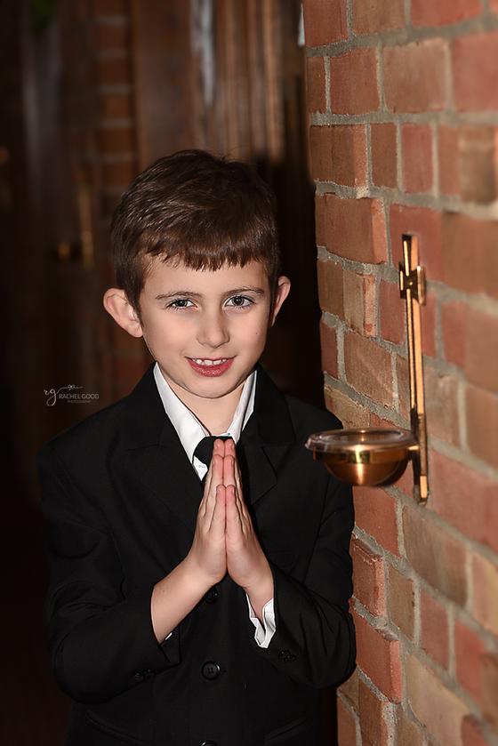 Aiden.  Saint Ambrose - First Communion.