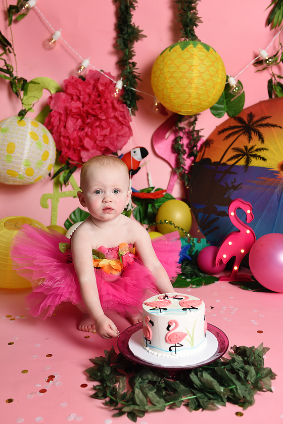 Celebrating One with Miss J. {{ a Luau Cake Smash }}